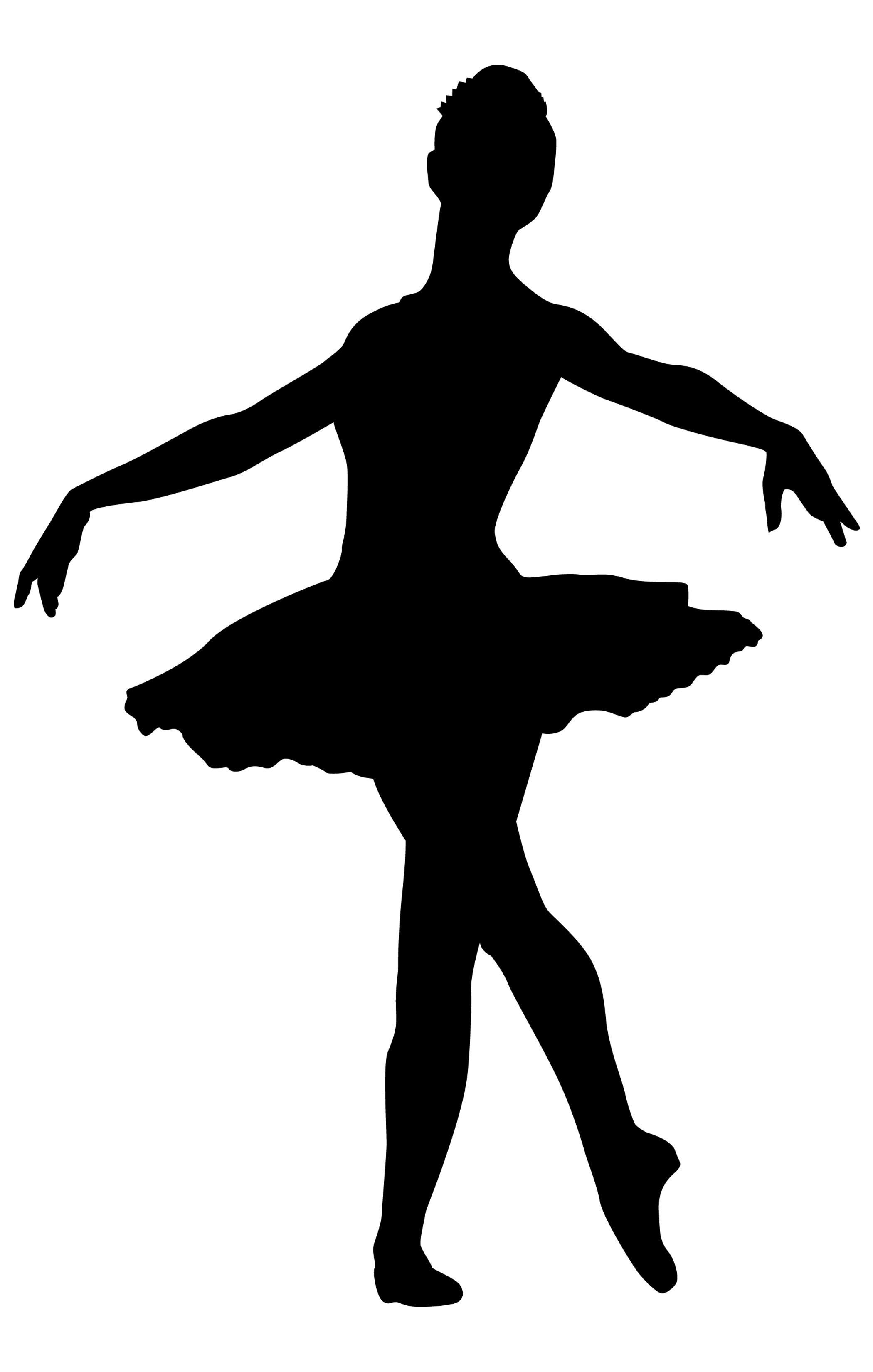 Free coloring pages of silhouette of dancer