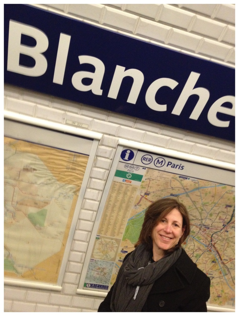 At the Blanche Metro Station in Paris
