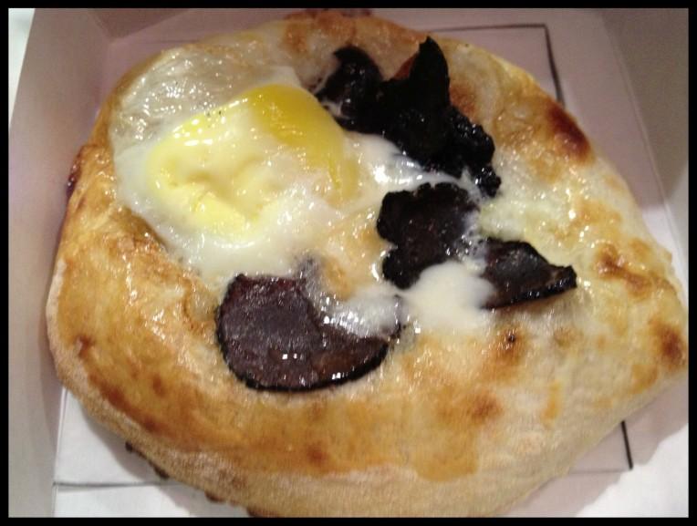 Pizzetta - Robiola Cheese - Black Truffles - Quail Egg