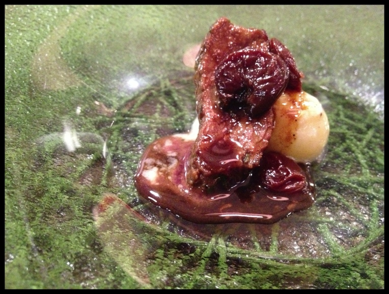 Venison – Sour Cherries – Cream – Potato